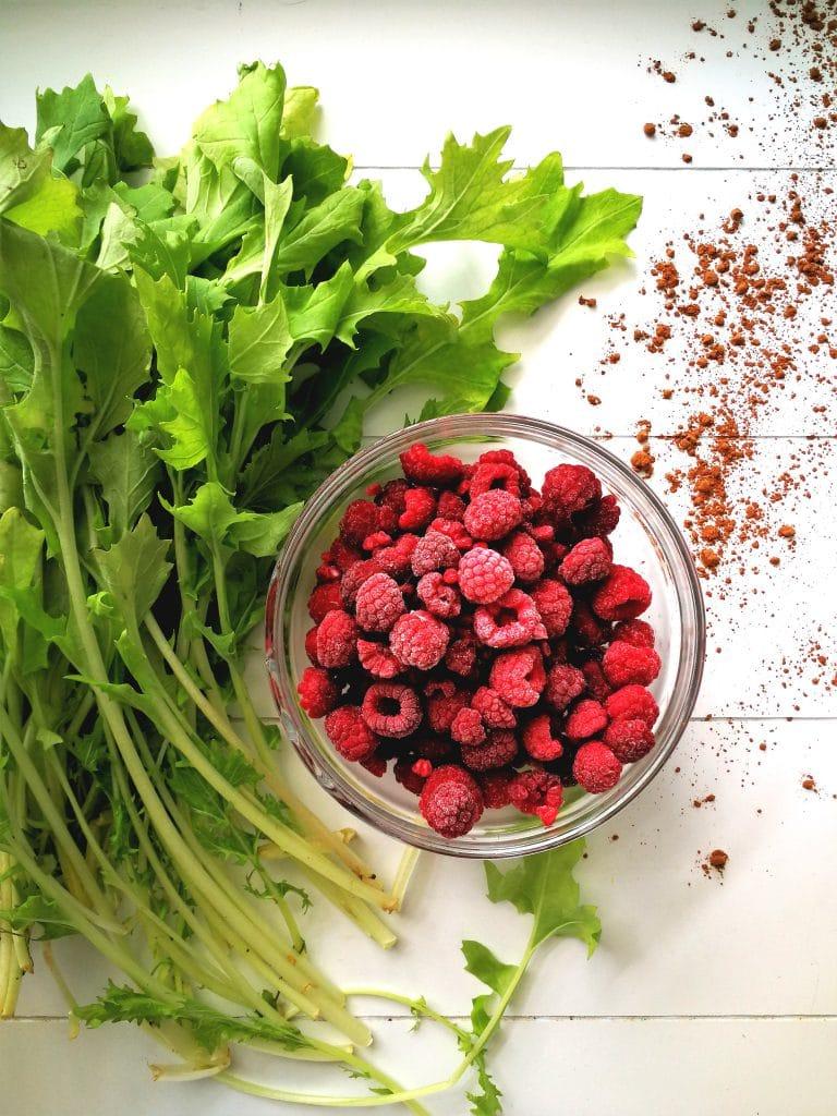 raspberry turnip greens smoothie