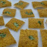 "Courgette ""Kaas"" Crackers"
