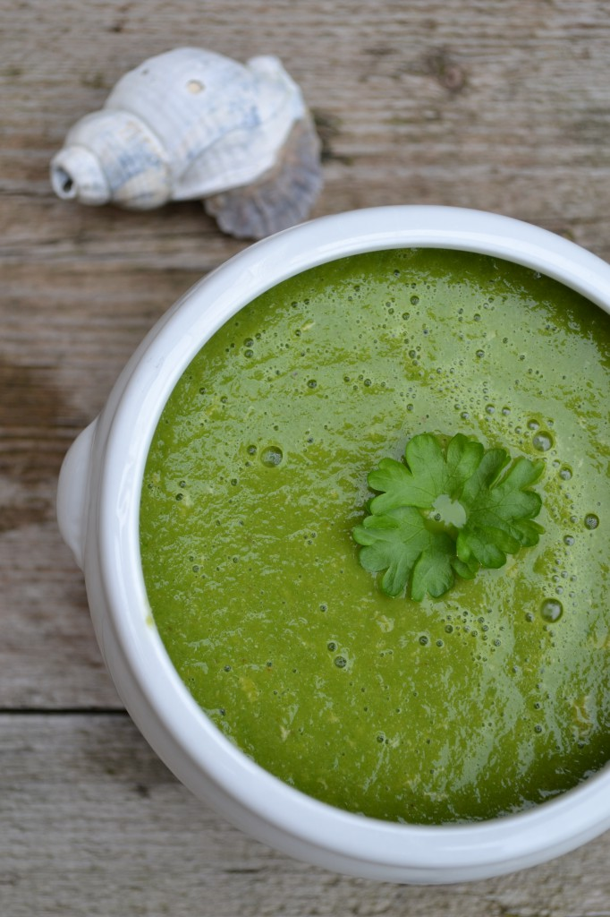 Kale smoothies and soup