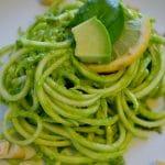 raw zucchini pasta pesto
