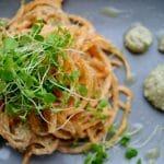 raw pumpkin spaghetti