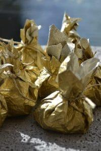 vegan chocolate dipped Easter eggs