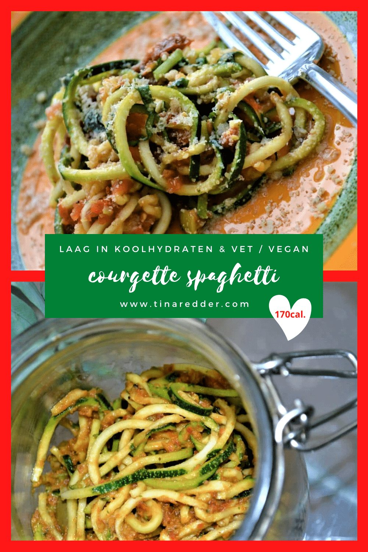 rauwe courgette spaghetti