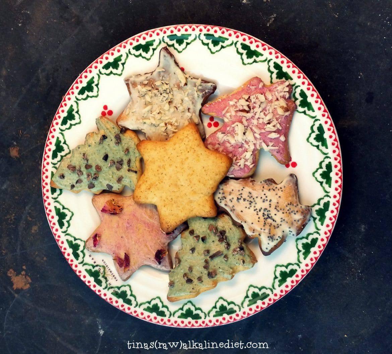 healthy vegan Christmas cookies