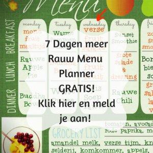 7 Dagen Menu Planner Gratis