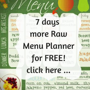 7 days more Raw Menu Planner