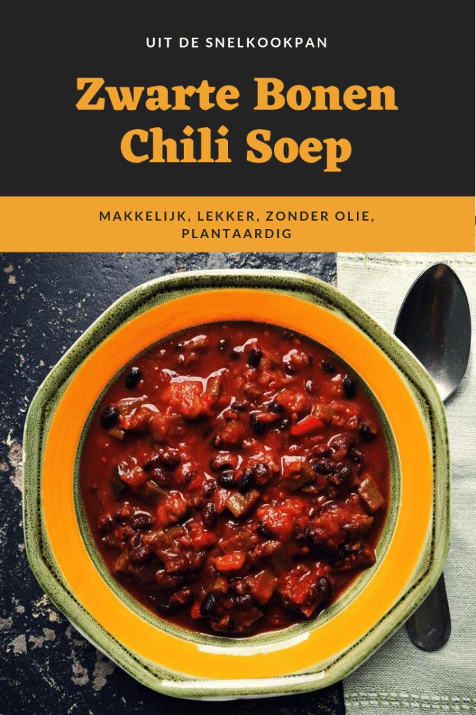 zwarte bonen chili soep