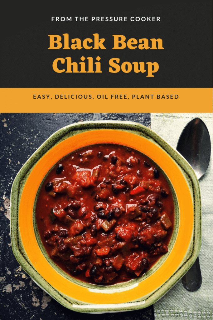 black bean chili soup