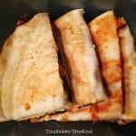 Zpete aardappel zwarte bonen quesadillas