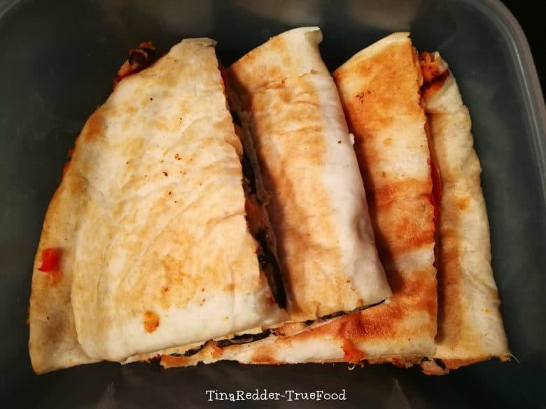 vegan sweet potato black bean quesadillas