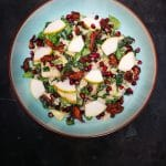fruity caesar salad & shiitake bacon
