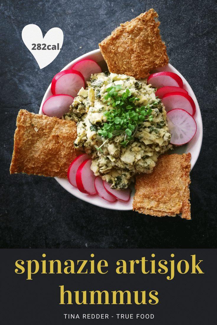 spinazie artisjok hummus