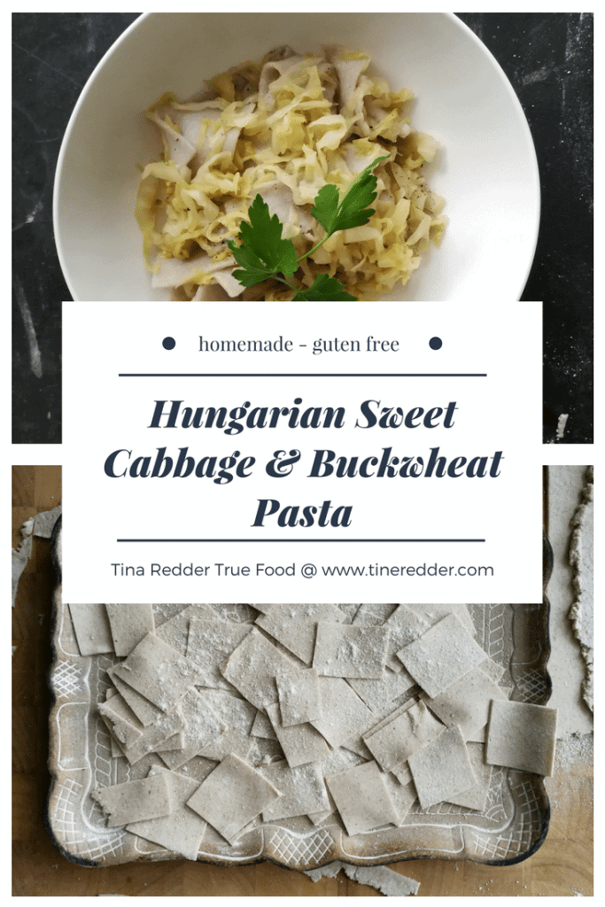 buckwheat pasta with sweet cabbage