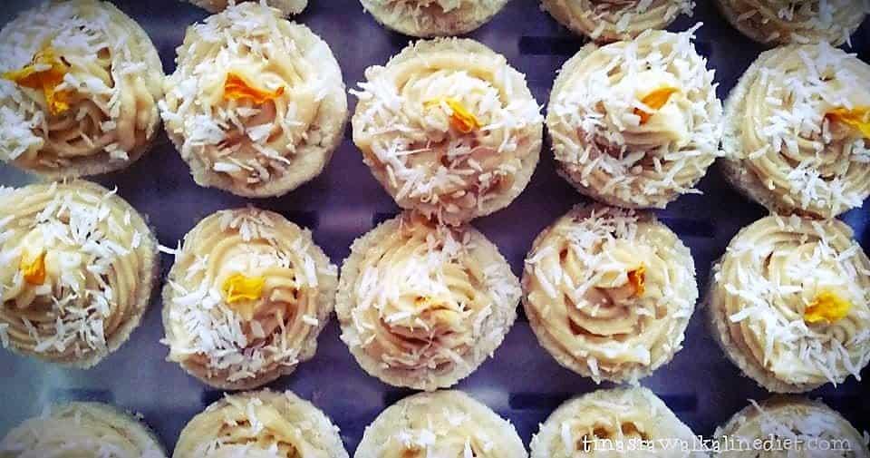 Raw Lemon Vanilla Cupcakes