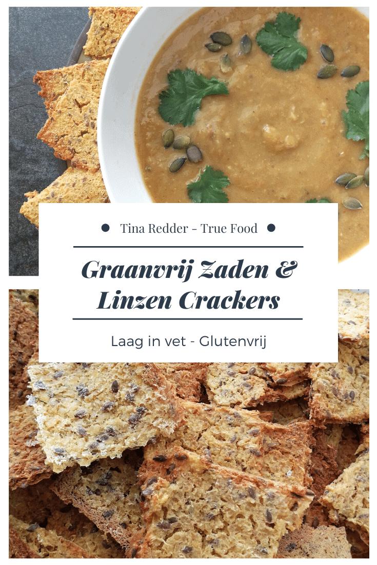 graanvrij zaden en linzen crackers