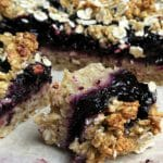 blueberry oat crumble squares