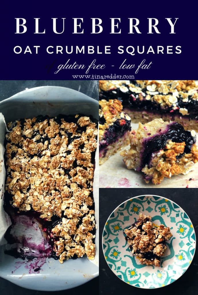 blueberry oat crunble squares