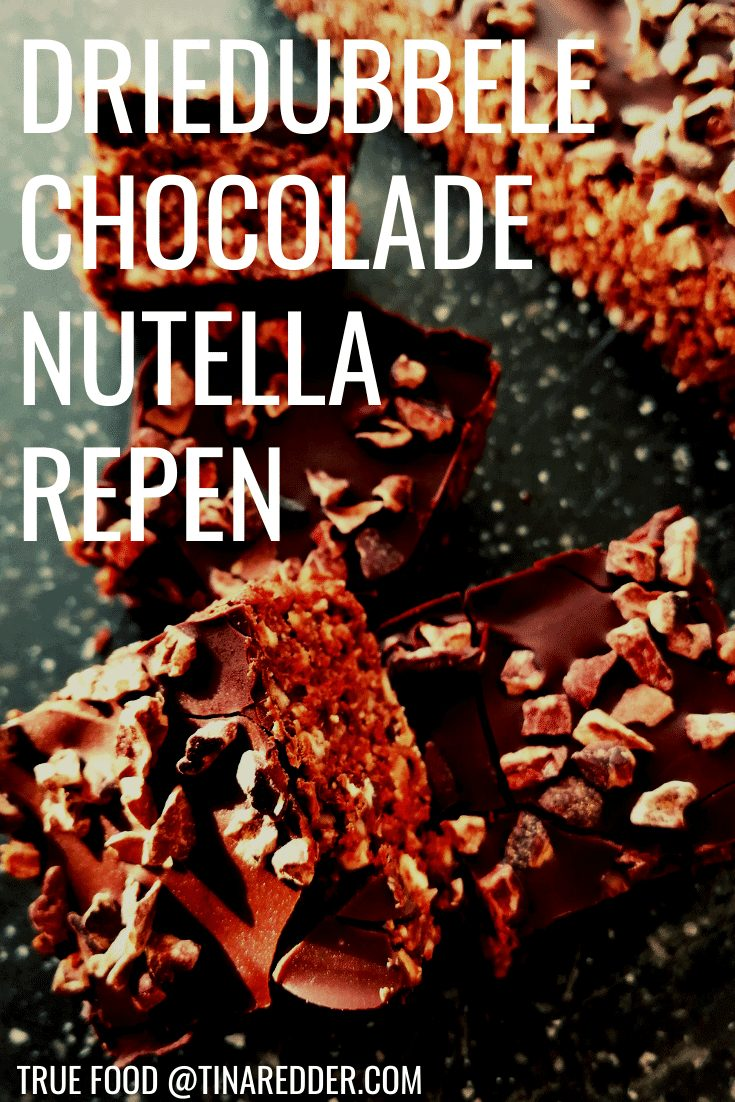 driedubbele chocolade nutella repen