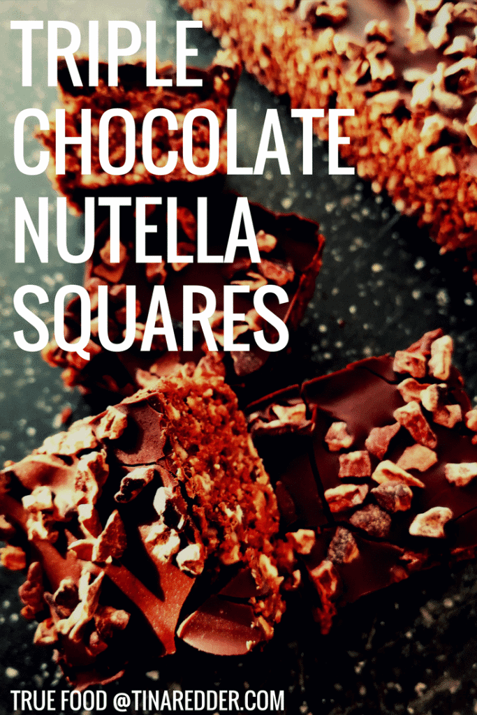 triple chocolate nutella squares