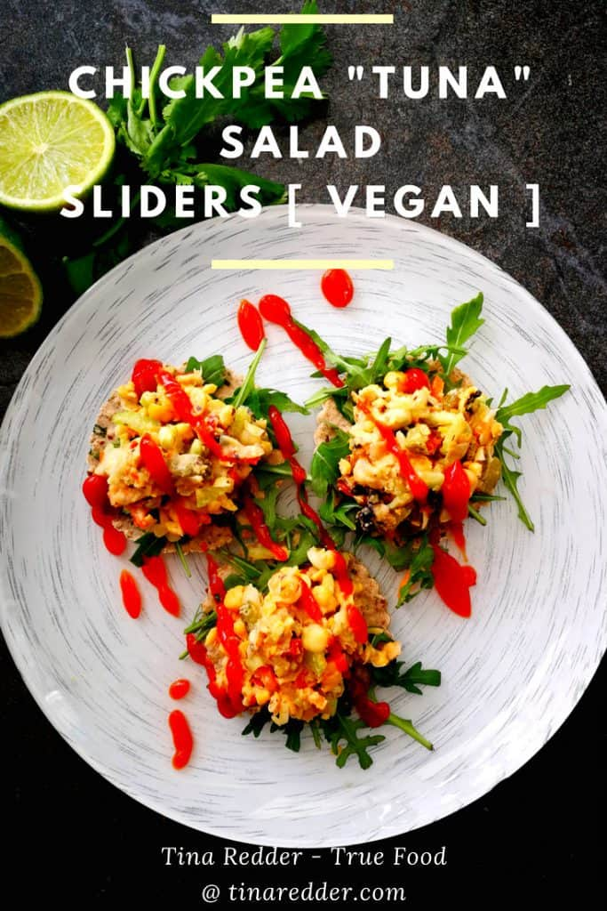 chickpea tuna salad sliders