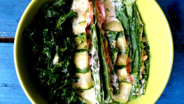 pressed zucchini lasagne