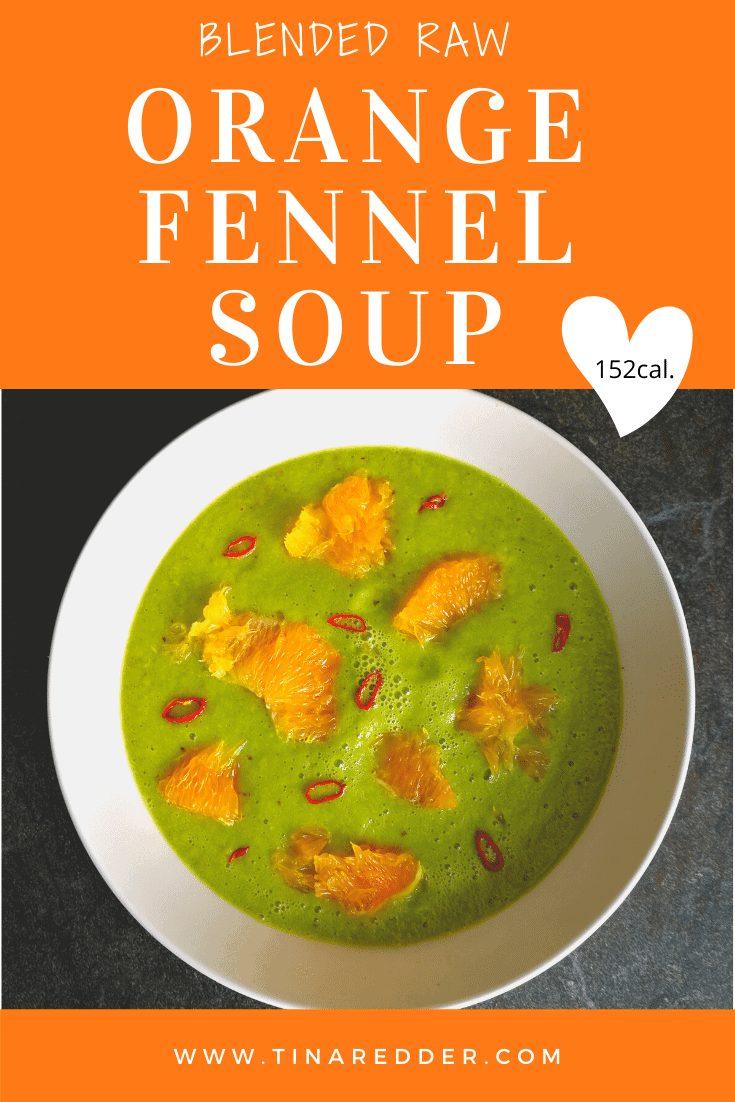 blended raw orange fennel soup