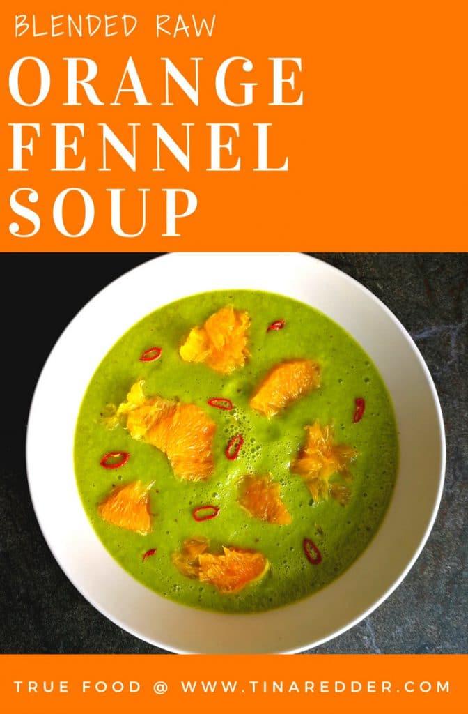 blended orange fennel soup