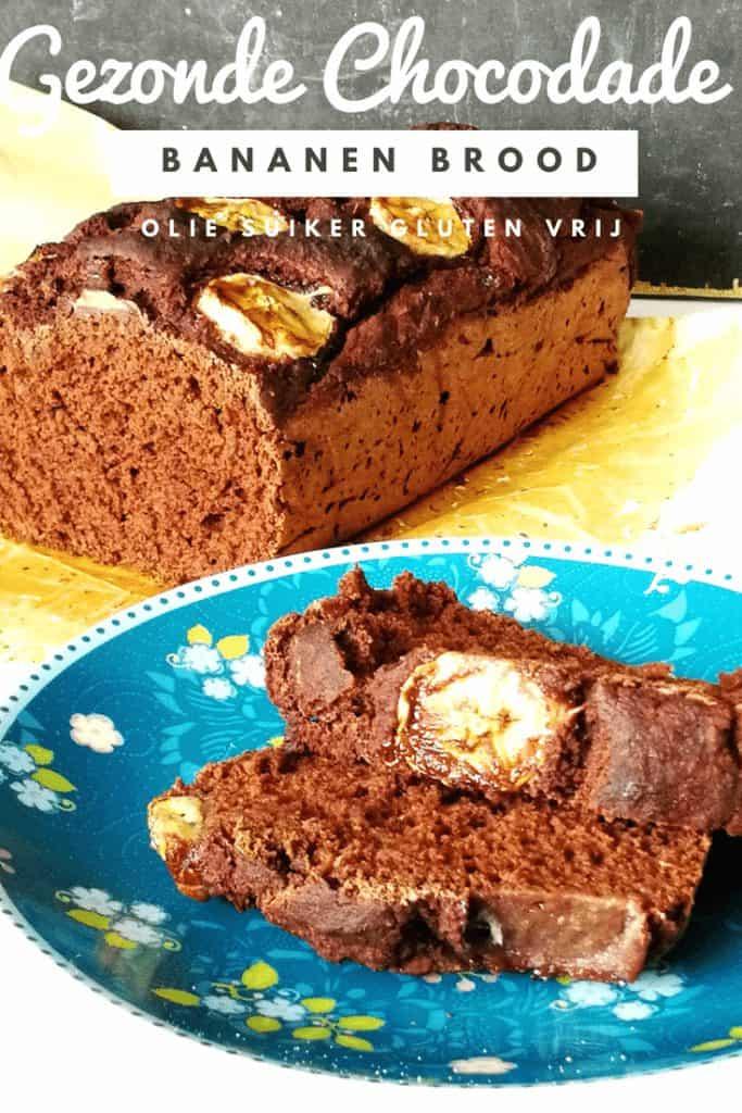 gezonde chocolade bananen brood