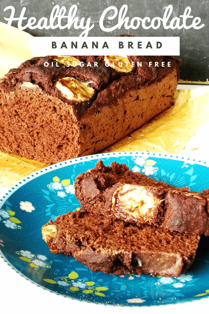 healthy chocolate banana bread