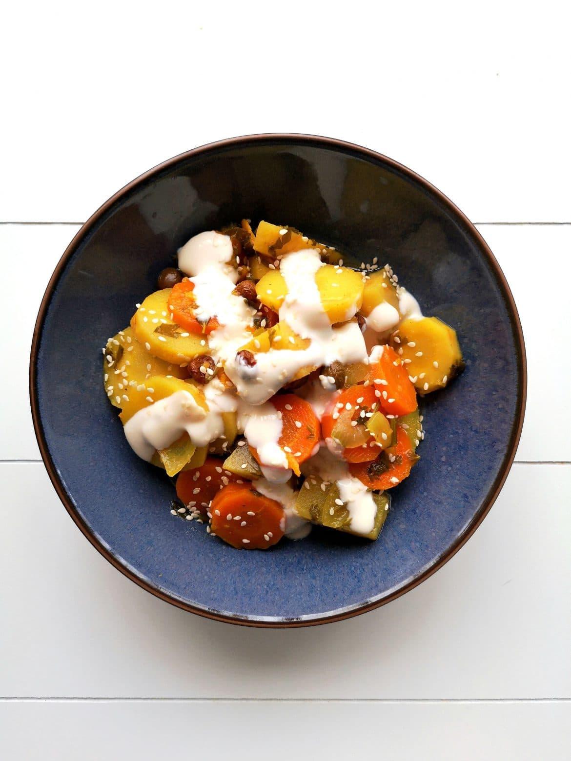 spicy root vegetables