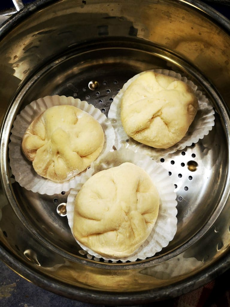 vegan steamed bakpau buns