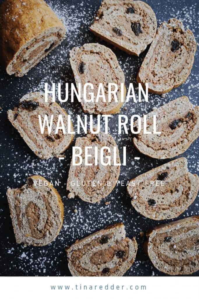 hungarian walnut roll beigli