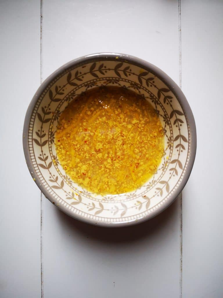 Roasted Cauliflower Rice Salad Lemon Dressing