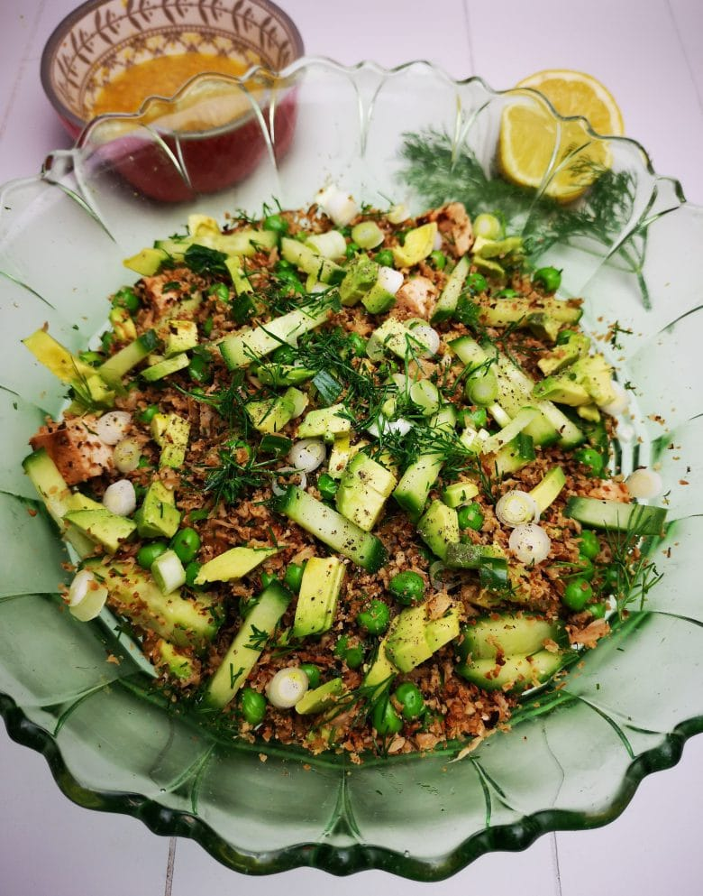 Roasted Cauliflower Rice Salad Lemon Dressing