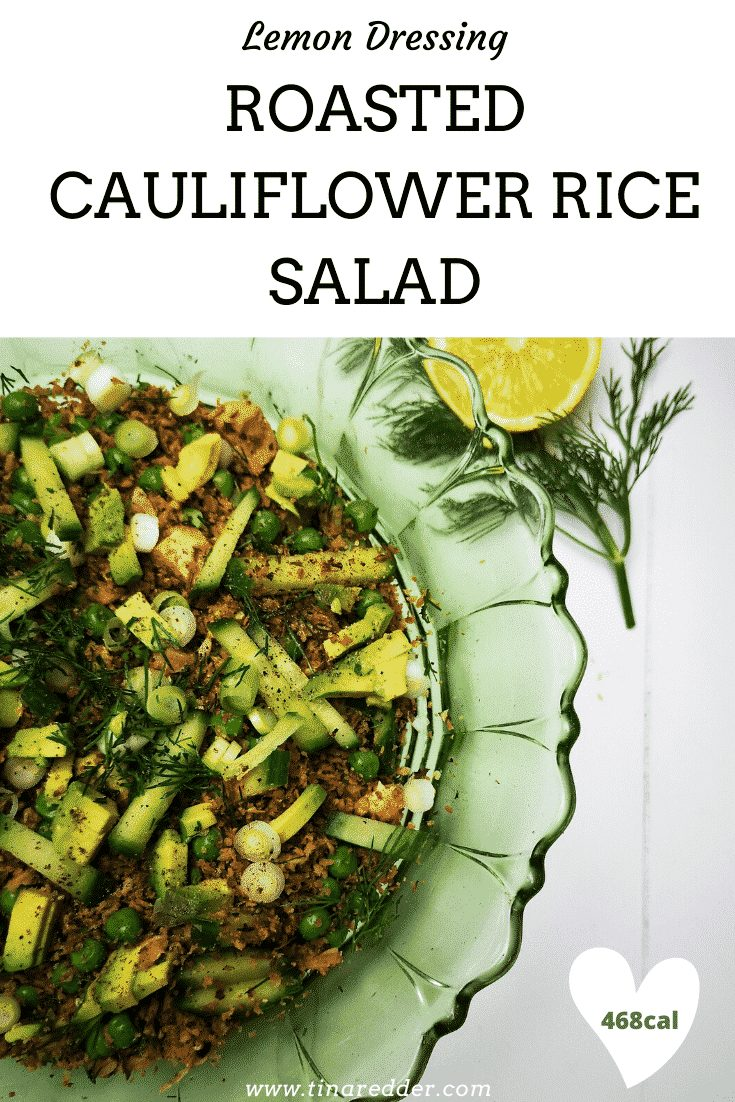 roasted cauliflower rice salad