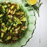 roasted cauliflower rice salad