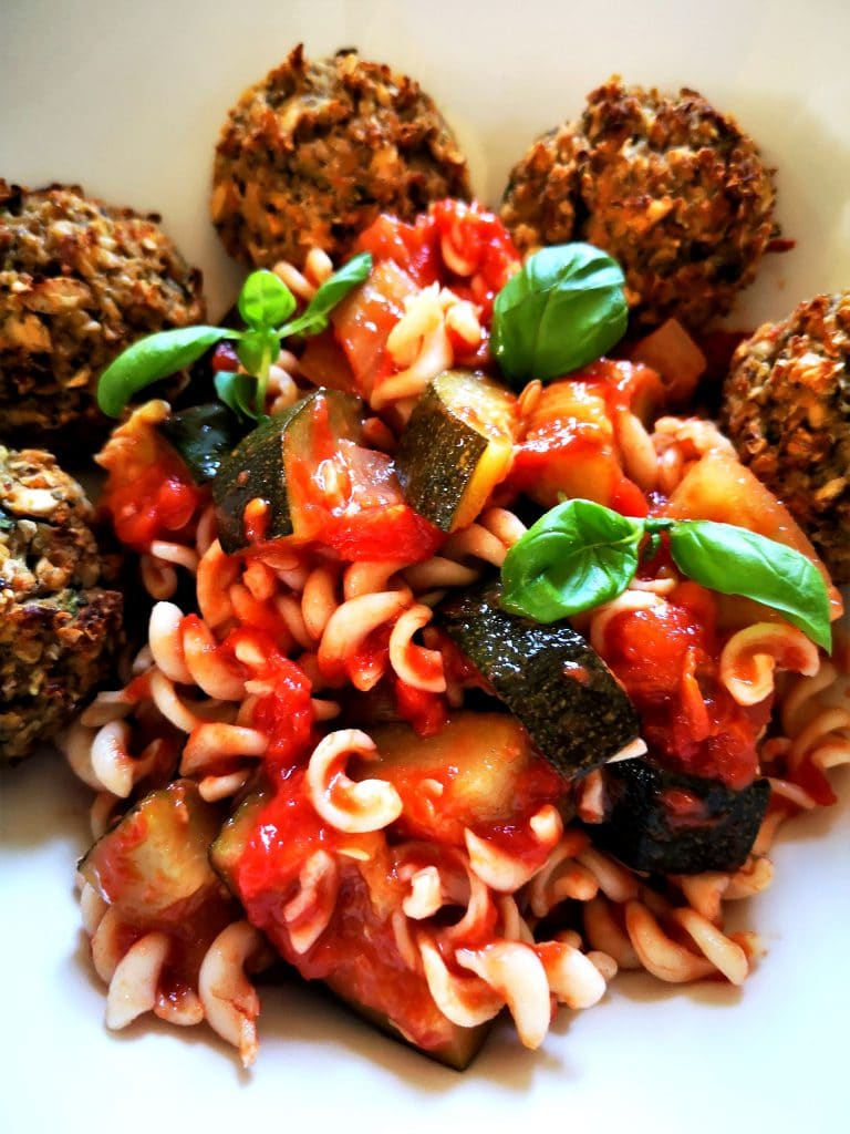 meatless white bean meatballs