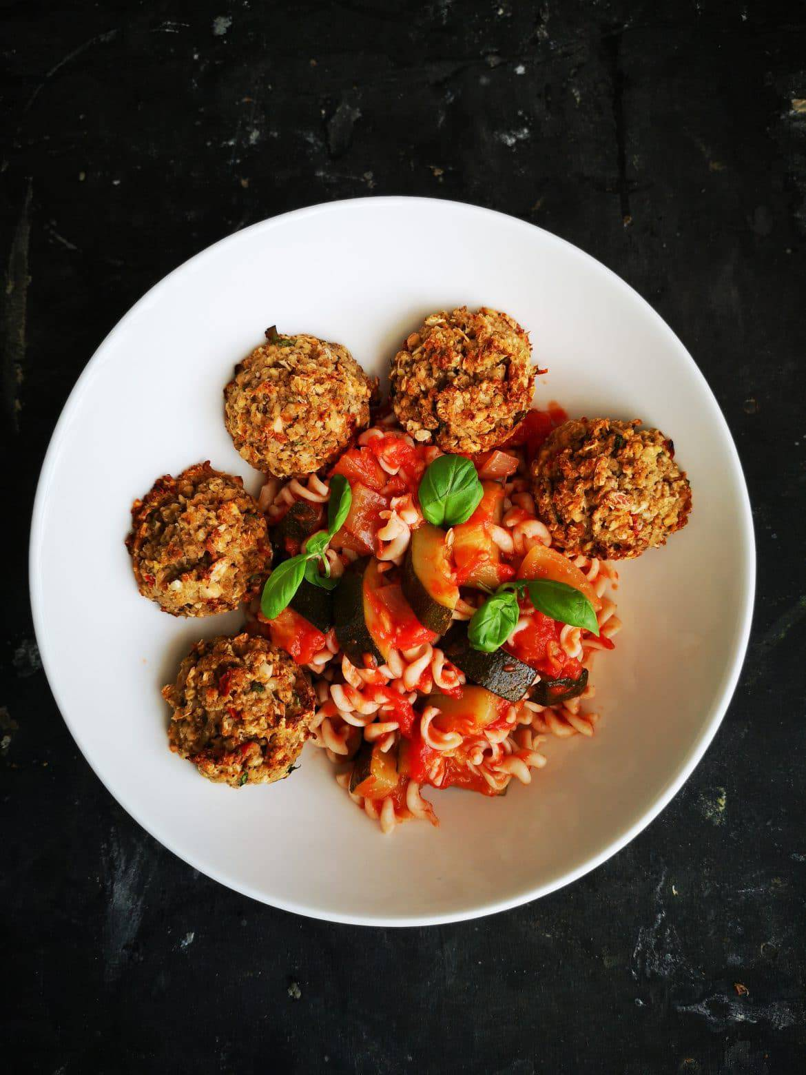 vegan white bean meatballs
