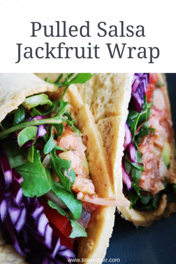 Pulled Salsa jackfruit wrap