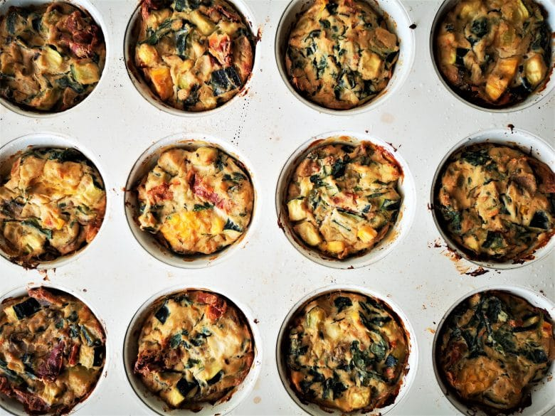crustless mini tofu quiche
