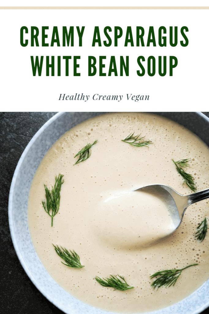 creamy asparagus white bean soup