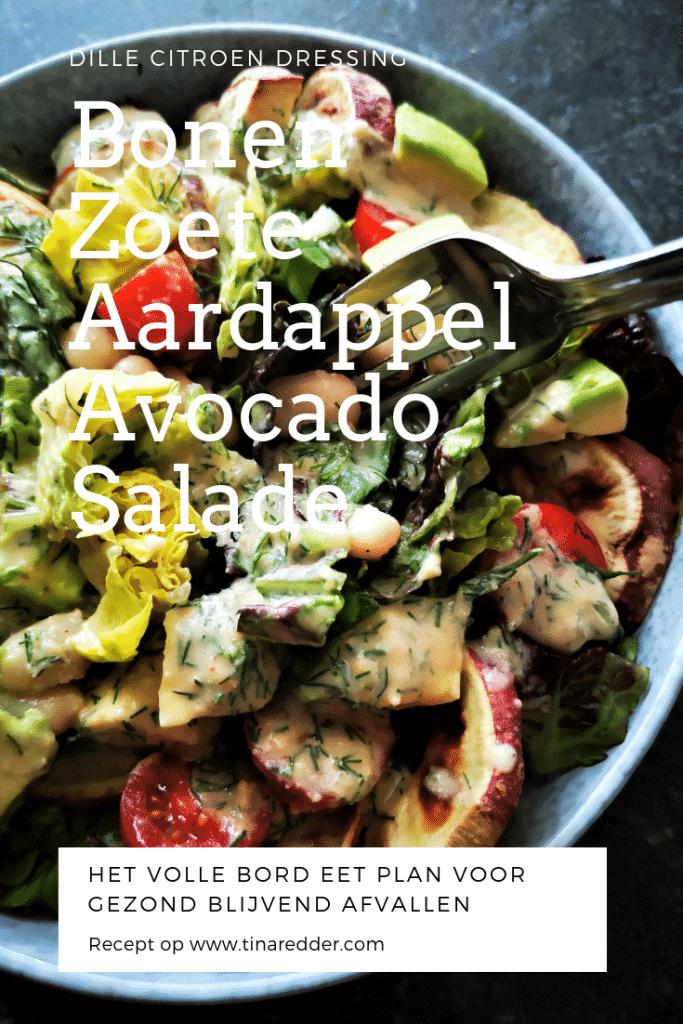 bonen zoete aardappel avocado salade