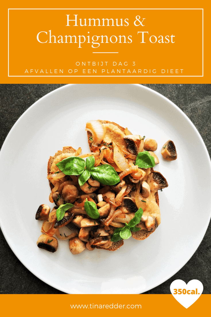 hummus champignons toast