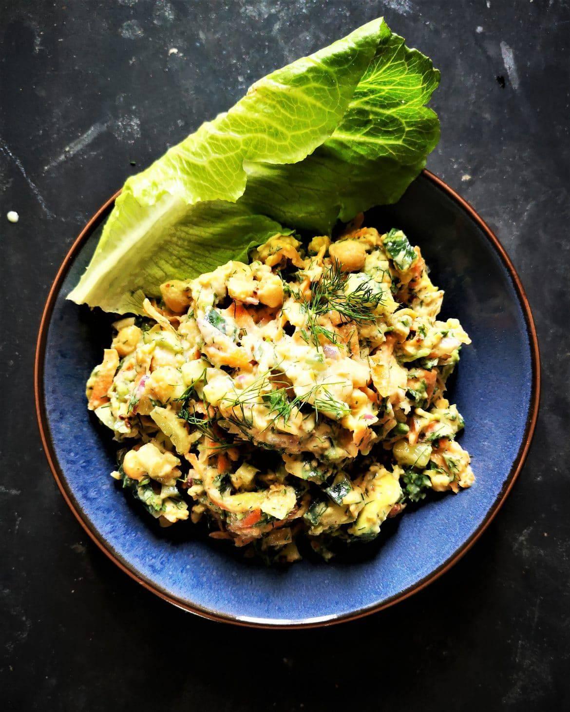 creamy chickpea avocado salad