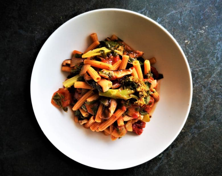 one pot veggie pasta