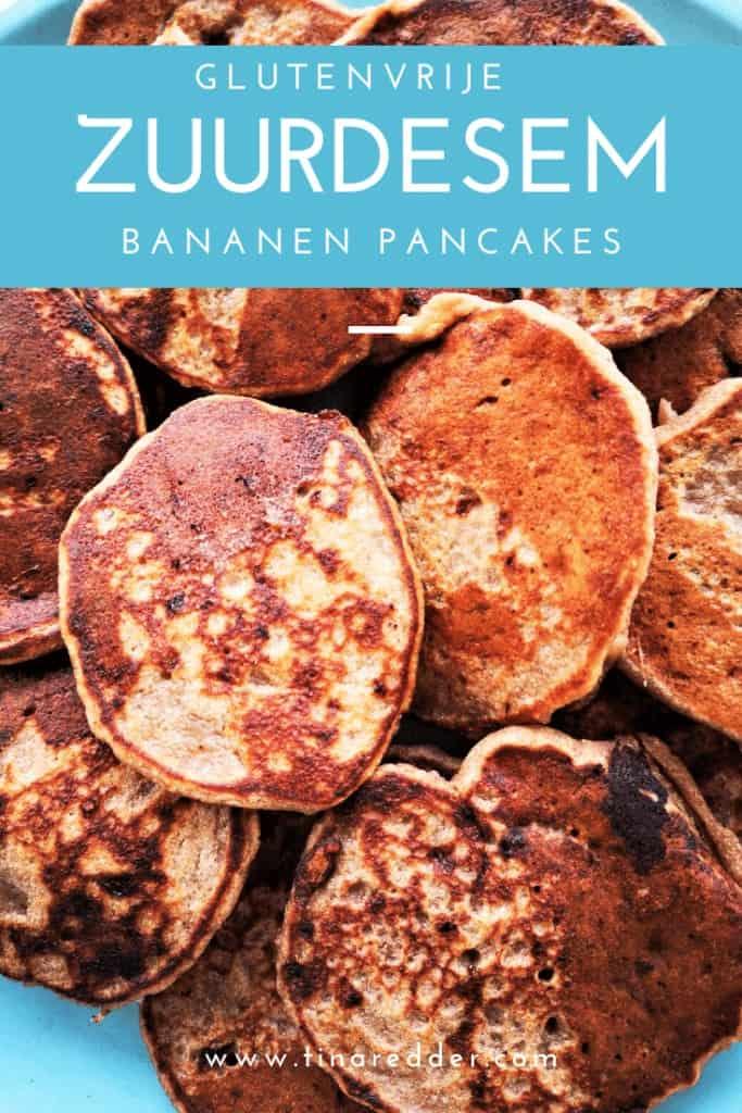 glutenvrije zuurdesem starter bananen pancakes