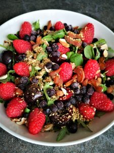 fruit & greens salad
