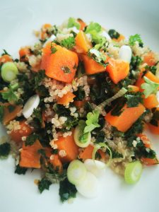 warm quinoa savory breakfast