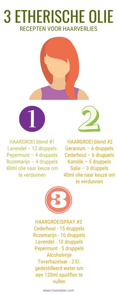 etherische olie recepten voor haarverlies